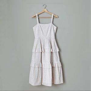 NWT {Gianni Bini} Tiered Eyelet Midi Dress